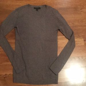 Banana Republic brown fitted sweater XS